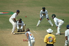 A cricket game at Sabina Park - Jamaica