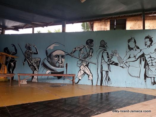 jamaican_maroon_charlestown_visit_asafu_yard_stage