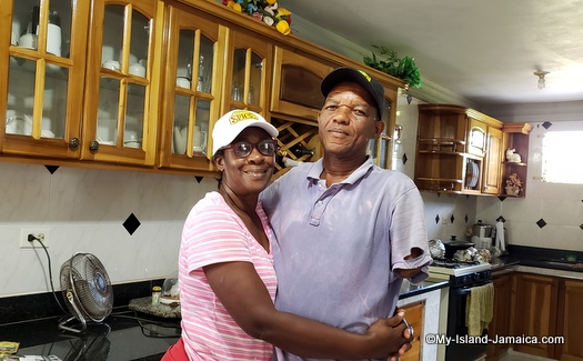 Jamaican men Winston bar with his wife