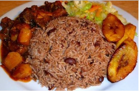 jamaican rice and peas dinner