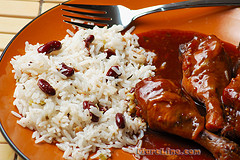 jamaican_rice_and_peas_with_garlic_honey_chicken