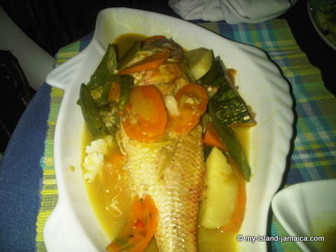 Jamaican steamed fish with Okra!