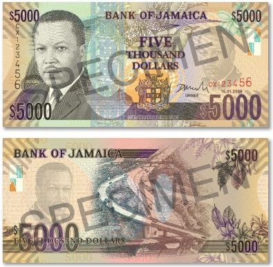 Jamaica's New $5000 Bank Note