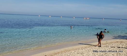 jamaican beach day - strolling along