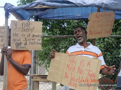 Protest for Jermaine Tuffy Anderson