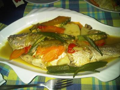 Jamaican Steamed Fish with Okra