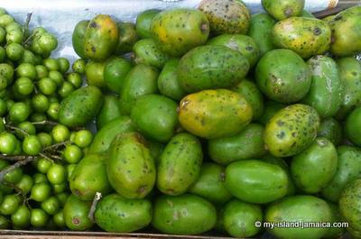 June Plum with Guineps in the Market