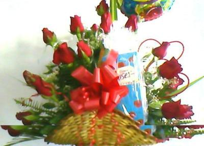 2 doz Roses with Cadbury Chocolate  Roses