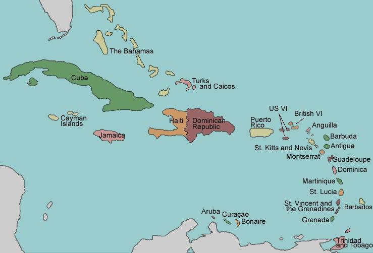 list of caribbean islands