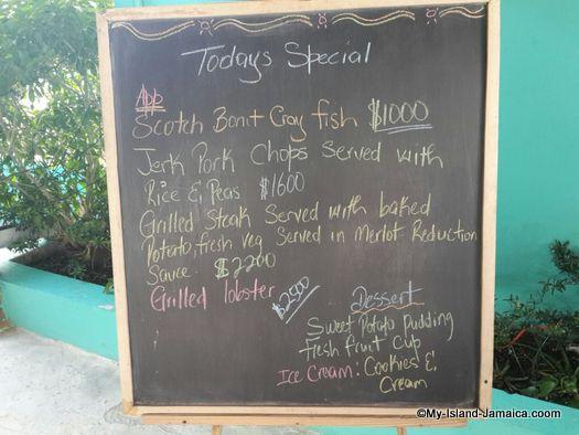 luna sea inn lunch menu