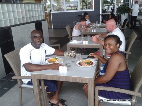lunch at riu palace jamaiaca