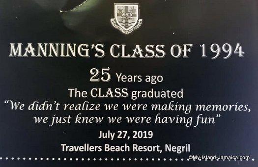 mannings class of 1994 reunion banner