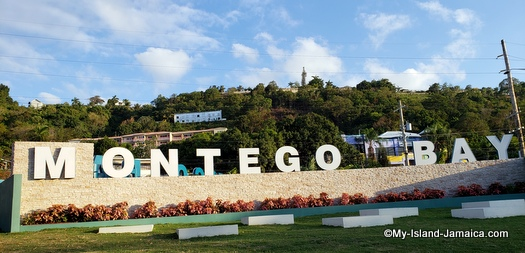 new montego bay welcome sign