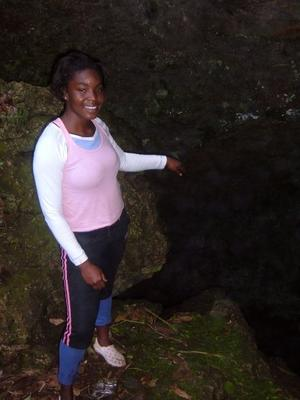 Me at Smokey Hole....seem to be the deepest cave in JA