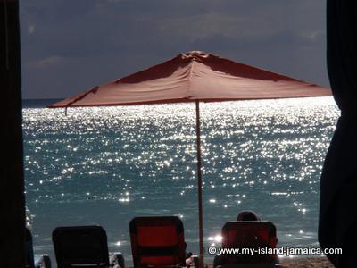 Beach Umbrella in Negril Jamaica
