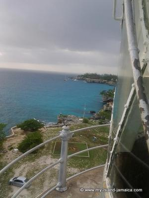 View from the lighthouse in Negril