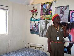 rasta guide shows bob's room at nice miles