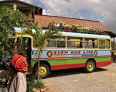 zion bus at nine miles