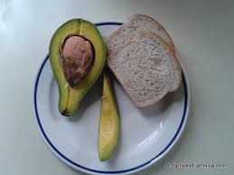 Jamaican avocado and bread meal