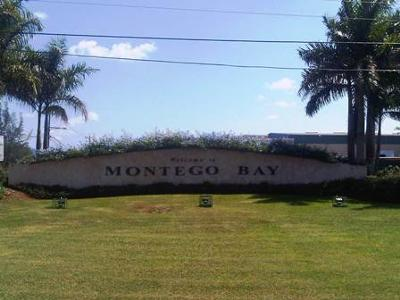 The Montego Bay Welcome Sign - at Freeport