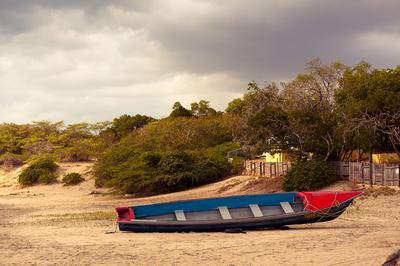 Picturesque Fishing Boat at Treasure Beach