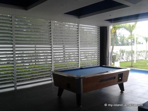 pool table at hotel riu