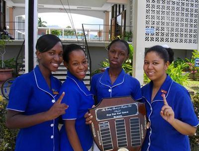 Immaculate Conception High (2011-2012 Quarter-Finals Schools' Challenge Quiz Team - Website Photo)