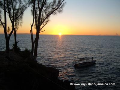 Sunset from Ricks Cafe in Negril