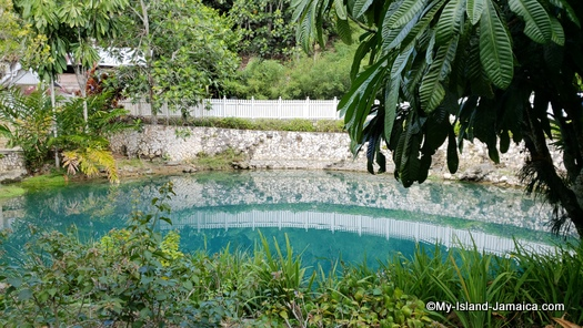 The Majestic Blue Hole At Roaring River Jamaica
