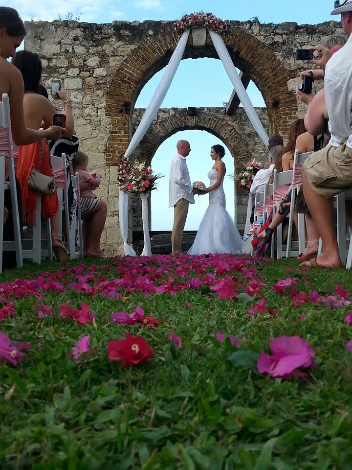 wedding in historic building