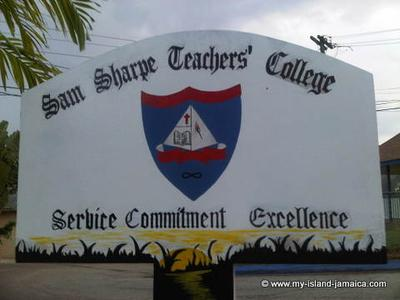 Sam Sharpe Teachers' College Sign