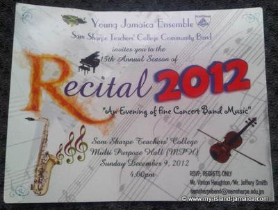 RECITAL 2012- Sam Sharpe Teachers' College Community Band's
