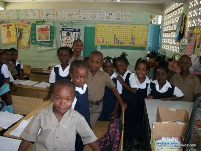 School Children In Jamaica