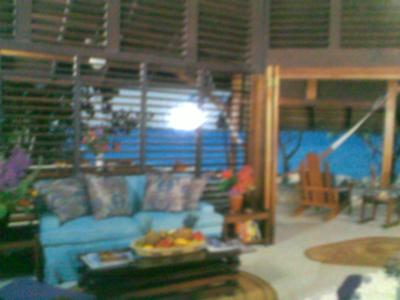 Front room inside largest bungalow at Sea Grape Bungalows in Negril
