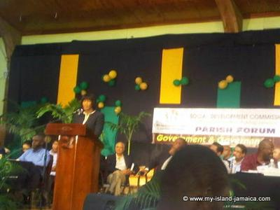 PM speaking at St. James Parish Forum 2012