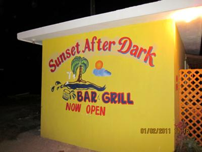 Sunset After Dark Bar & Grill Sign