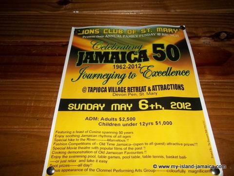 Tapioca Jamaica50 event