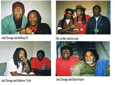 Joel Savage with Reggae Music Artistes