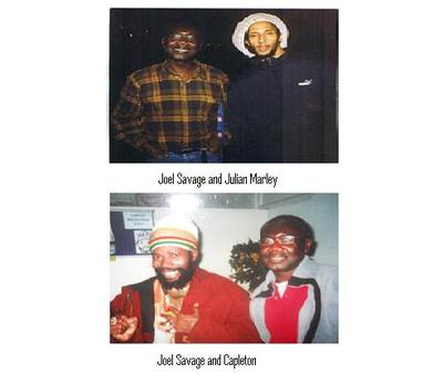 Joel Savage with Capleton