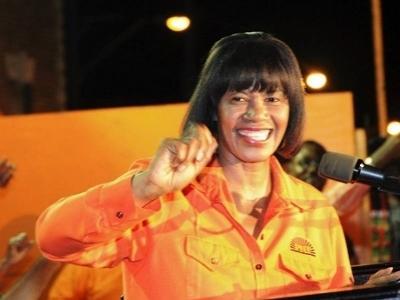 Portia Simpson Miller -Jamaica's PNP Leader<br><font size=1>Soure: Go Jamaica</font>
