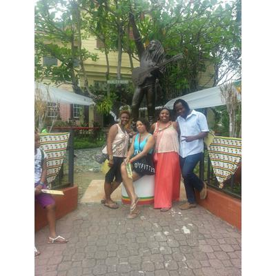 One Love! ... My cousins and me, with one of the BEST tour guides ever - Javia Shaw (Know Jamaica Tours)