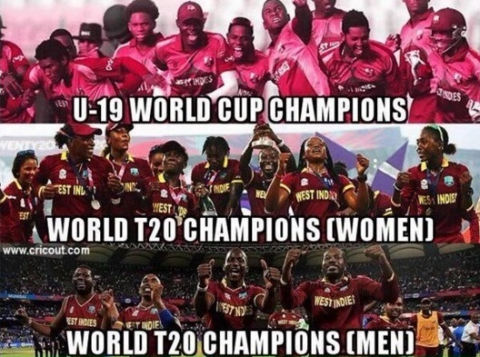 three west indies cricket teams won 2016 competitions