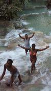 Climbing Dunns' River Falls