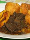 Jamaican Breakfast - Liver with Fried Dumplings