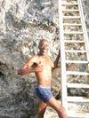 cliff diver at lighthouse Negril