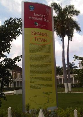 Spanish_Town_jamaica_heritage_trail_sign