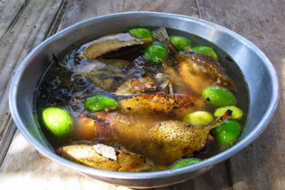 Roasted Trunk fish in Lime