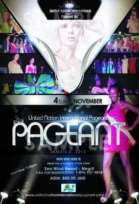 United Nation International Pageant 2012 Poster