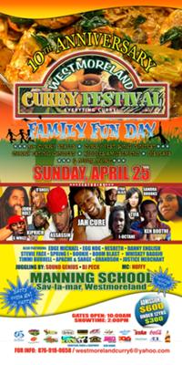 Westmoreland Curry Festival 2010 Flyer