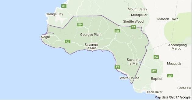 westmoreland_jamaica_map